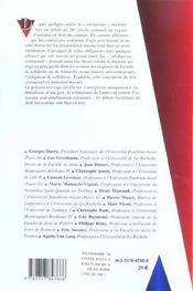 Le solidarisme contractuel - 4ème de couverture - Format classique