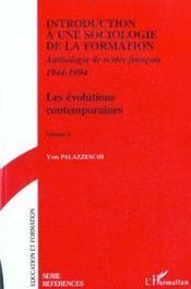Introduction A Une Sociologie De La Formation T.2 ; Les Evolutions Contemporaines - Intérieur - Format classique
