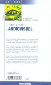 Les métiers de l'audiovisuel (7e édition) - 4ème de couverture - Format classique