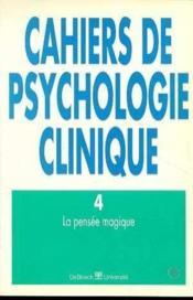 Cahiers De Psychologie Clinique 1995/1 N.4 - Couverture - Format classique