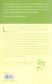 Achetons de la cosmétique bio ; conseils et adresses pour bien choisir ses produits de beauté - 4ème de couverture - Format classique