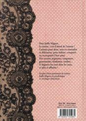Carnet de recettes pour deux d'une femme amoureuse - 4ème de couverture - Format classique