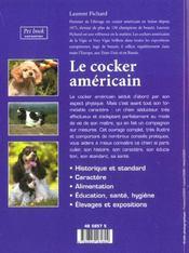 Le cocker americain - 4ème de couverture - Format classique