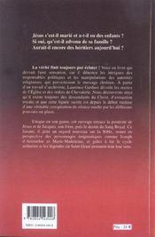 Graal et la lignee royale du christ (le) - 4ème de couverture - Format classique