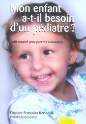 Mon enfant a t-il besoin d'un pédiatre ? - Intérieur - Format classique
