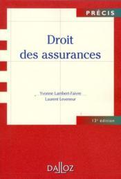 Droit des assurances (13e édition) - Couverture - Format classique