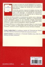 Droit des assurances (13e édition) - 4ème de couverture - Format classique