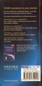 Oxford learner's pocket thesaurus first edition - 4ème de couverture - Format classique