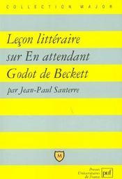 Leçon littéraire sur En attendant Godot, de beckett - Intérieur - Format classique