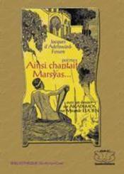 Ainsi chantait Marsyas ; dossier sur la revue Akademos - Couverture - Format classique