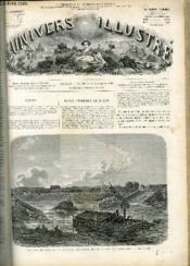 L'UNIVERS ILLUSTRE - TREIZIEME ANNEE N° 825 - Le siège de Paris, les batteries flottantes devant le pont de Billancourt. - Couverture - Format classique