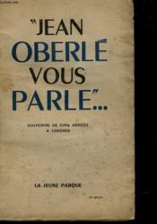 Jean Oberle Vous Parle - Couverture - Format classique
