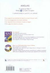 NEW SPRING ; anglais ; 5ème ; LV1 ; workbook (édition 2007) - 4ème de couverture - Format classique