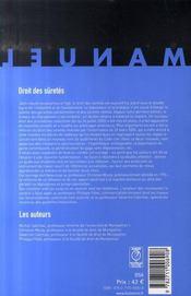 Droit des sûretés (8e édition) - 4ème de couverture - Format classique