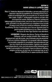Dose Letale A Lutece Land - 4ème de couverture - Format classique