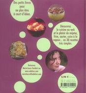 Wok ! la cuisine asiatique - 4ème de couverture - Format classique