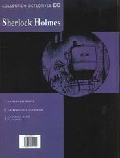 Sherlock Holmes t.2 ; la béquille d'aluminium - 4ème de couverture - Format classique