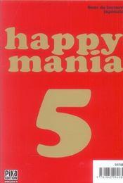 Happy mania t.5 - 4ème de couverture - Format classique