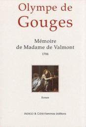 Mémoire de Madame de Valmont (1788) - Couverture - Format classique