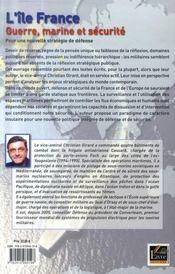 L'île France ; guerre, marine et sécurité - 4ème de couverture - Format classique