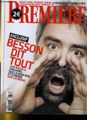 Premiere N° 347 - Exclusif: Besson Dit Tout Sur Angel-A, Sur Jamel, Sur La Banlieue... - Couverture - Format classique