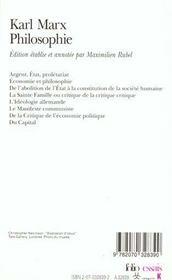 Philosophie - 4ème de couverture - Format classique