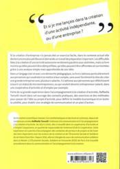 De l'idée à la création d'activité ; conseils pratiques et exercices pour se lancer en toute sérénité - 4ème de couverture - Format classique