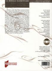 REVUE LA LICORNE N.81 ; la morale élémentaire ; aventure d'une forme poétique, Queneau, Oulipo etc... - 4ème de couverture - Format classique