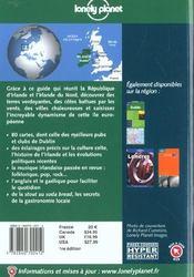 Irlande ; 1e Edition - 4ème de couverture - Format classique