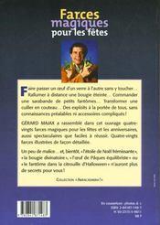 Farces magiques pour les fetes - 4ème de couverture - Format classique