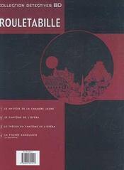 Rouletabille t.3 ; le trésor du fantôme de l'opéra - 4ème de couverture - Format classique