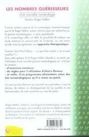 Les nombres guerisseurs - une nouvelle numerologie - 4ème de couverture - Format classique
