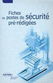Fiches de postes de securite preredigees - Couverture - Format classique