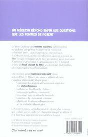 La nouvelle ménopause ; le guide des hormones naturelles aprés 45 ans - 4ème de couverture - Format classique