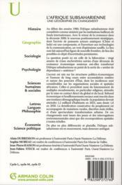 L'Afrique subsaharienne ; une géographie du changement (3e édition) - 4ème de couverture - Format classique