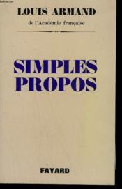 Simples Propos . - Couverture - Format classique