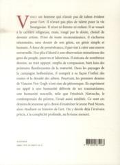 Les débuts de Vincent Van Gogh - 4ème de couverture - Format classique