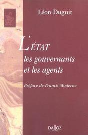 L'état, les gouvernants et les agents - Intérieur - Format classique
