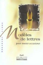 Modeles De Lettres Pour Toutes Occasions - Intérieur - Format classique