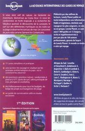 Costa rica - 4ème de couverture - Format classique