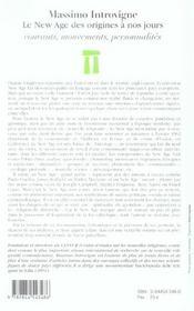 Histoire Du New Age De L'Origine A Nos Jours ; Courants, Mouvements, Personnalites - 4ème de couverture - Format classique