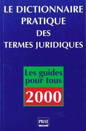 Dictionnaire Pratique Des Termes Juridiques - Intérieur - Format classique