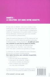 La Dietetique Du Diabete - 4ème de couverture - Format classique