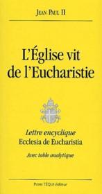 L'Eglise vit de l'eucharistie - Couverture - Format classique