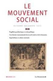 Revue Le Mouvement Social N.253 ; Guerre, Santé Et Médecine - Couverture - Format classique