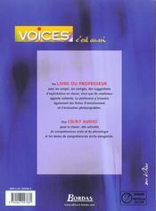 Voices term techno 2003 manuel - 4ème de couverture - Format classique