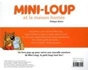 Mini-Loup ; et la maison hantée ; livre pop-up - 4ème de couverture - Format classique