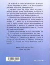 Vocabulaire thematique espagnol contemporain nouvelle edition revue et augmentee - 4ème de couverture - Format classique
