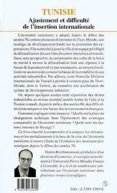 Tunisie ; Ajustement Et Difficulte De L'Insertion Internationale - 4ème de couverture - Format classique