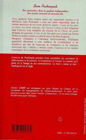 Sam Peckinpah : Un Realisateur Dans Le Systeme Hollywoodien - 4ème de couverture - Format classique